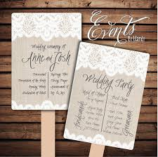customized wedding programs printed sle for 2 dollars or sets of 50 custom printed wedding