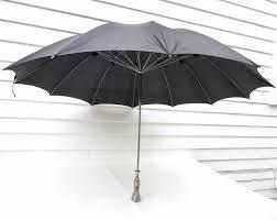 Osu Umbrellas by Sold Vintage Black Umbrella Mens Umbrella Walking Stick
