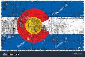 State Flag Of Colorado Flag Colorado State Flag Grunge Style Stock Illustration 707813383
