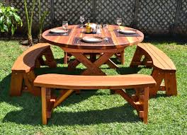 Building Wooden Picnic Tables by Outdoor Picnic Table And Bench Set Wooden Picnic Benches Wooden