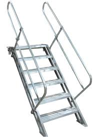 Height Of Handrails On Stairs by Removable Aluminum Stairways Metallic Ladder Manufacturing Corp