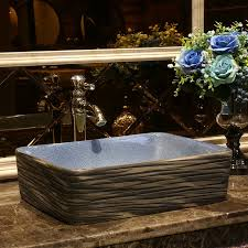 Commercial Bathroom Sinks And Countertop Aliexpress Com Buy Rectangular China Ceramic Painting Art Lavabo