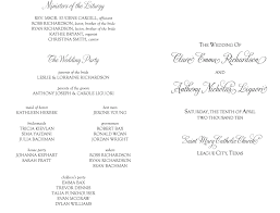catholic wedding ceremony program best photos of copy of church programs sle wedding ceremony