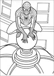 spider man roof coloring free printable coloring pages