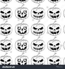 scary halloween clipart black and black white seamless pattern scary halloween stock vector