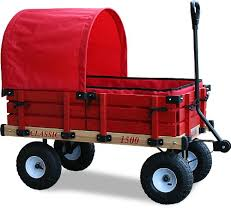 amazon black friday red flyer tricylce millside industries classic wood wagon with red wooden racks
