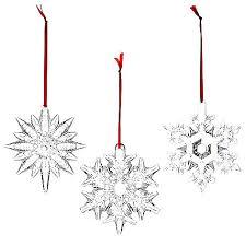 waterford set of three snowflake ornaments