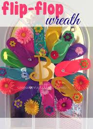 flip flop wreath flip flop wreath with dollar store supplies mylitter one