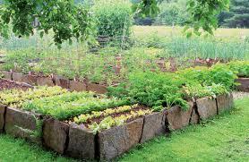 keyhole garden layout raised bed garden design stone home outdoor decoration
