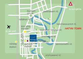 map of hat yai map of centara hotel hat yai hotels resorts thailand