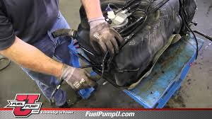 how to install fuel pump e3626m in a 2005 2006 chevy equinox