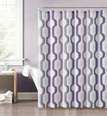 Purple And Gray Bathroom - purple gray pink and taupe fabric shower curtain with printed