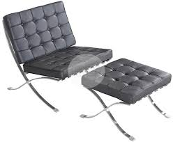 replica barcelona chair u0026 ottoman 1 seater premium black italian
