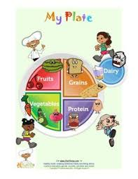 healthy plate coloring page teaching children the elements required to grow healthy food