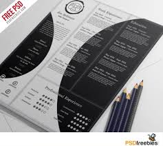 Resume Psd Template Creative And Professional Resume Free Psd Template Psdfreebies Com