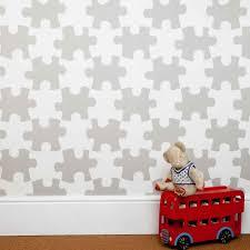 designer kids wallpaper u0027it u0027s a puzzle u0027 in stone bedroom decor cu