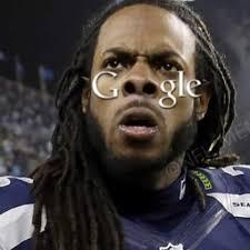 Richard Sherman Memes - google should use richard sherman s big ass nostrils as the