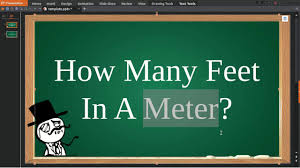 how many feet in a meter youtube
