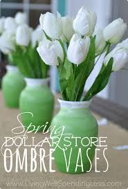 Dollar Store Vase Centerpiece Dollar Store Ombre Vases Living Well Spending Less