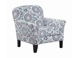 Teal Accent Chair by Simmons Upholstery 2151 Transitional Accent Chair With Flared Arms