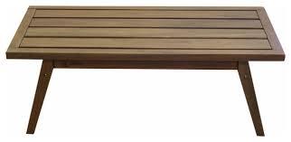 timbo mestra hardwood outdoor patio rectangular coffee table