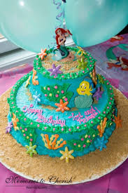 2 Tier Little Mermaid Birthday Cake Cakecentral Com