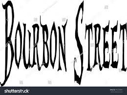 bourbon sign bourbon sign on white background stock vector 702790987