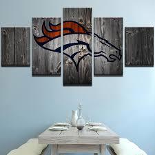 5 Piece Denver Broncos American Football Canvas Painting Wall Art