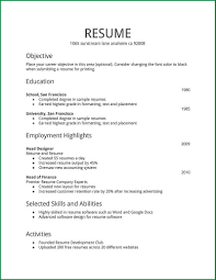cover letter basic resumes templates basic job resume templates