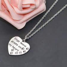 heart dog necklace images Dogs leave prints on my heart quot dog pawty jpg