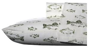 Fish Duvet Cover Scarlet Of Fish Flannel Sheet Set U0026 Reviews Joss U0026 Main