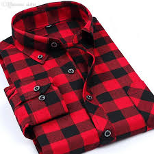 wholesale new autumn brand fashion mens plaid shirts long sleeve