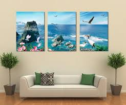 Dolphin Home Decor Free Shipping 3 Panel Canvas Art Home Decoration Wall Art Beach