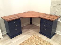 Wood Corner Desks For Home Wood Corner Desk With Drawers Small Corner Workstation Home Office