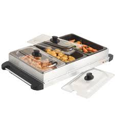 Buffet Server With Warming Tray by Vonshef Stainless Steel Electric 3 Pan Buffet Food Server