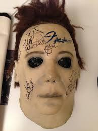 michael myers mask original halloween charitybuzz jamie lee curtis u0027 authentic michael myers mask used