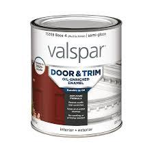 Exterior Metal Paint - shop valspar door and trim semi gloss oil based enamel interior
