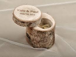 engraved pillows engraved wood wedding ring bearer slice rustic wooden ring holder