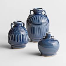 3 Vases Set Blue Thai Celadon Vases Set Of 3 National Geographic Store