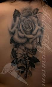 realistic rose with bow by holly azzara tattoos