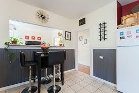 Kitchen With Wainscoting Contemporary Kitchen With Simple Granite Counters U0026 Wainscoting In