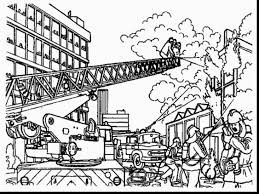 fantastic thank you firefighters coloring page with firefighter