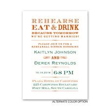 bridal dinner invitations rehearse eat and drink rehearsal dinner invitation