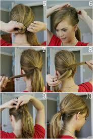 a cute simple ponytail that looks good with about any occasion