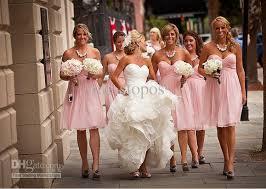 Pink Bridesmaid Dresses Baby Pink Bridesmaid Dresses With Sweetheart Neckline Ipunya