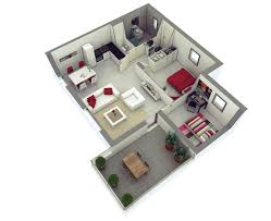 25 more 2 bedroom 3d floor plans cozy house three bed l hahnow