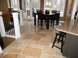 Tile In Dining Room | walnut brushed chiseled travertine tile flooring tiles