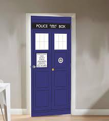 Tardis Interior Door Doctor Who Tardis Door Cling Thinkgeek