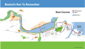 Map Run Route by Run To Remember Boston World U0027s Marathons