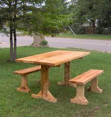 Plans For A Picnic Table With Separate Benches by 16 Beautiful Garden Picnic Bench Tables And Designs Planted Well
